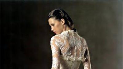 Koronkowa hiszpańska suknia  ślubna PRONOVIAS / Model TURNER, Rozmiar 40.
