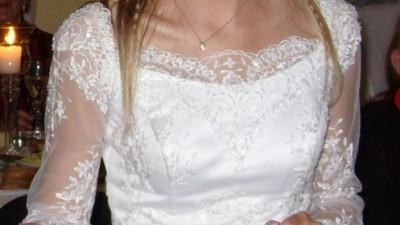 Koronkowa sukienka ślubna