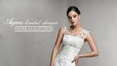 Koronkowa suknia ślubna Agnes Silver,model 10252