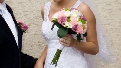 Koronkowa suknia ślubna r.36/38 piękna