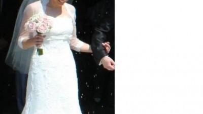 Koronkowa suknia ślubna White One 176 + welon
