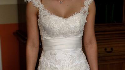 Koronkowa suknia ślubna z salonu Nabla