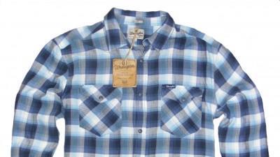 Koszula męska Wrangler Twill Check Men's Shirt Costal Fjord - L