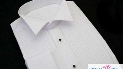 Koszula ślubna z plisami, plisowana biała r.38/39 Trafox slim line