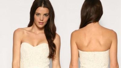 kremowa haftowana sukienka firmy ASOS