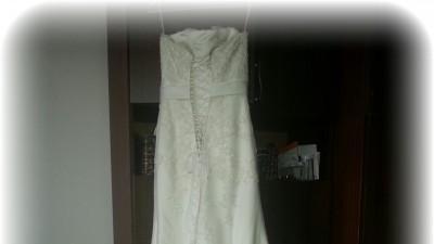 kremowa suknia ślubna Annais model Marys 36-38 + akcesoria
