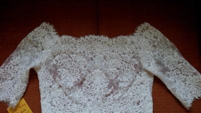 Krótka suknia ślubna + bluzeczka