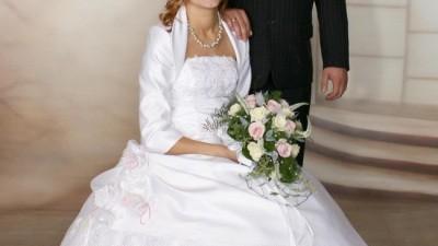 księżniczkowa suknia ślubna
