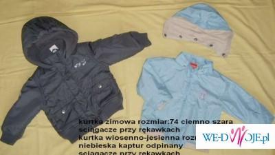 kurtki zimowa i wiosenno-jesienna