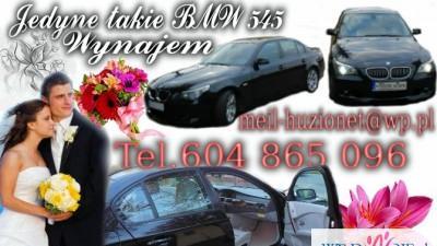 LIMUZYNA BMW 545 WYNAJEM DO ŚLUBU