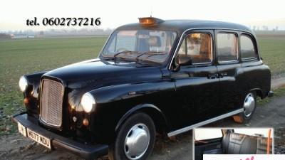 londyńska taksówka zawiezie do ślubu