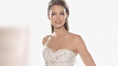 madonna piękna stylowa suknia ślubna atelier diagonal