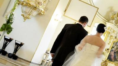 Manuel Mota SENEGAL/salon Madonna. Elegancka suknia ślubna