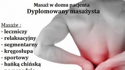 Masaż Konstancin –leczniczy kręgosłupa – Dojazd do Klienta