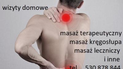 Masaż leczniczy ,kręgosłupa (Wizyty Domowe) – Piastów ,Pruszków,Komorów