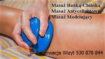 Masaż na cellulit bańką chińską z dojazdem Warszawa