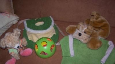 Maskotki+plecaczek+ zabawka +polarek