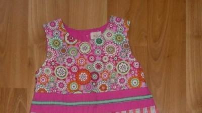 Mega kolorowa sukienka sztruksowa