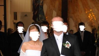 Muślinowa suknia ślubna (rozm. 38, wzrost 167+8cm obcas)