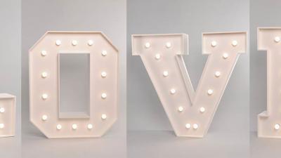 Napis LOVE w stylu RETRO z żarówkami WYNAJEM 100cm - LiteroweLovepl