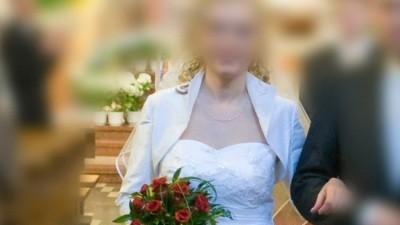 Niedroga biała suknia ślubna rozm. 38/40