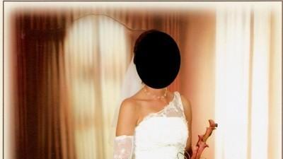 Niepwowtarzalna koronkowa suknia ślubna