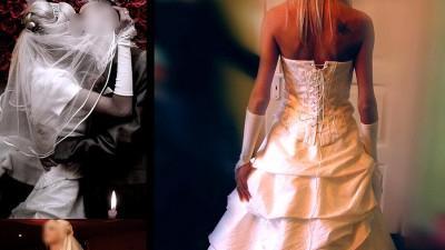 Niezwykła suknia ślubna plus dodatki! Tanio!