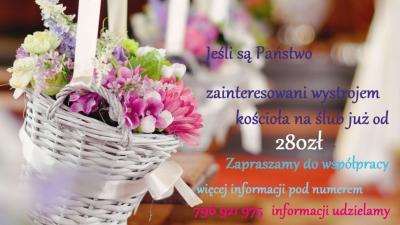 niezwykłe dekoracje ślubne oraz oprawa florystyczna