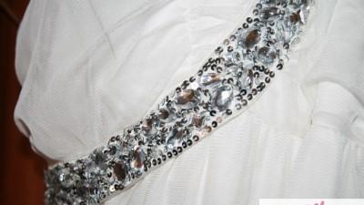 NOWA Piękna suknia EMPIRE ecru 44*