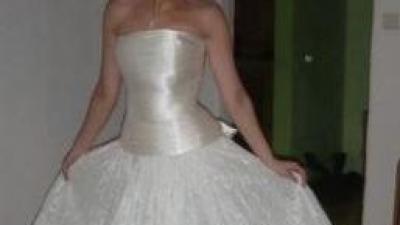 Nowa suknia ślubna atłas