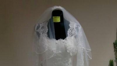 Nowa suknia ślubna Venus z trenem, kolor ecru, roz. 40