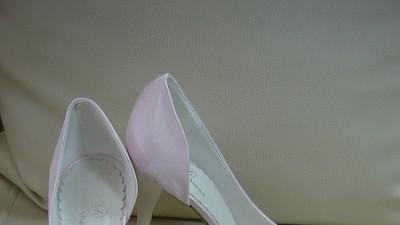 Nowe Buty!!! Atłas blady róż. Bardzo wygodne! r.38