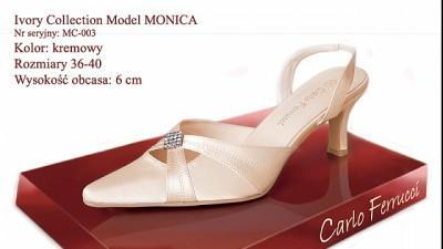 NOWE BUTY ŚLUBNE CARLO FERUCCI model MONICA