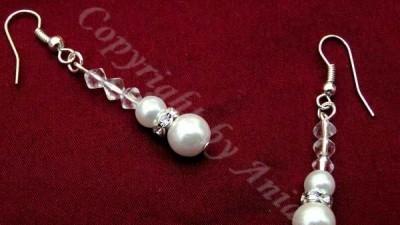 nowy komplet biżuterii ślubnej