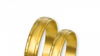 Obrączki złote J012