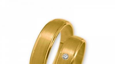 Obrączki złote J035