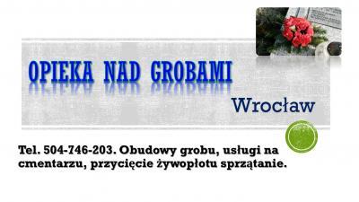 Obudowa grobu z tworzywa sztucznego, cena, Wrocław, tel. 504-746-203, obudowy.  Skrzynka z tworzywa sztucznego na grób, cena z montażem, Osobowice, grabiszyn, kiełczów, kiełczowska