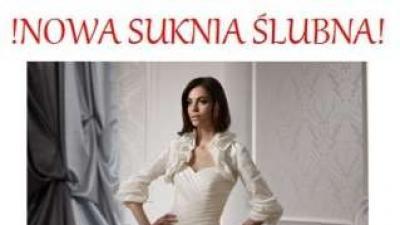 Okazja piękna Nowa suknia Ślubna