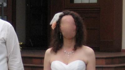 Okazyjna cena piękna suknia ślubna Oreasposa L593 plus gratis bolerko