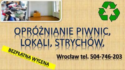 Opróżnienia mieszkania, domu, po zbieraczu, cena, tel. 504-746-203. Wrocław.  Sprzątanie i wywóz  nagromadzonych zbędnych rzeczy, śmieci przez lokatora, zajmującej się zbieractwem.  po osobie zmarłej. Opróżniane mieszkań zagraconych, zapuszczonych.