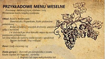 Organiacja wesel, imprez okolicznościowych-usługi gastronomiczne