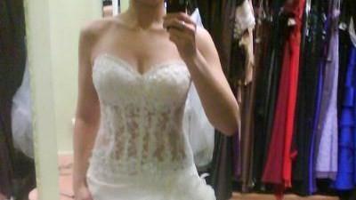 orginalna suknia ślubna + futerko