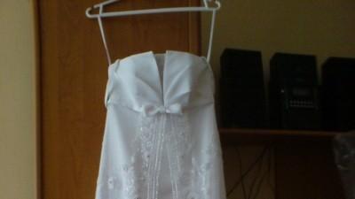 Oryginalna biała  suknia ślubna + welon