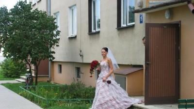 Oryginalna borowa suknia Papa Michel 36-38/170