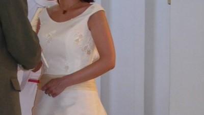 Oryginalna, delikatna suknia ślubna