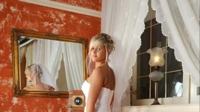 Oryginalna śnieżnobiała suknia ślubna+ dodatki