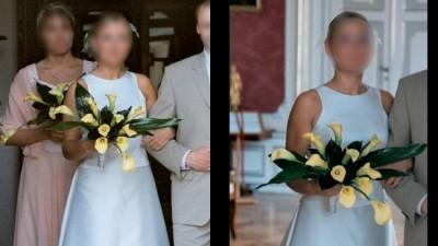 Oryginalna suknia Cymbeline 2 czesciowa ecru