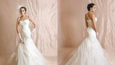 oryginalna suknia-koronkowe ramiaczko+swarovski- salon!