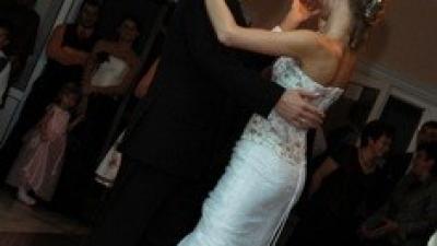 Oryginalna suknia ślubna, dopasowana, 'syrena', rybka