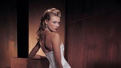 Oryginalna suknia ślubna kupiona w salonie Lisa Ferrera z kolekcji 2006